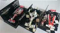 3ks FORMULA WORLD CHAMPS SET 1:43 MCLAREN, BRAWN, MCLAREN