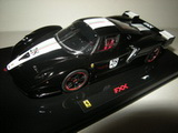1:43 FERRARI FXX BLACK DAYTONA WITH ITALIAN FLAG